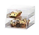 Cal-Mil 258 Countertop Display Case w/ 2-Slant Front Drawers, Clear