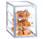 Cal-Mil 268-S Countertop Display Case w/ Front Door & (3) 13 x 18-Trays, Clear