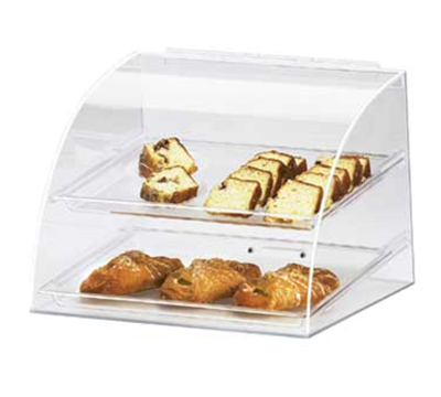 "Cal-Mil 289 Countertop Display Case w/ Euro Front & (2) 10 x 14"" Tray, Clear"