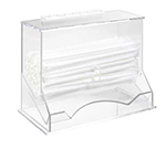 Cal-Mil 293 Clear Acrylic Wrapped Straw Dispenser, 10-1/8 x 5.25 x 8-1/8-in H
