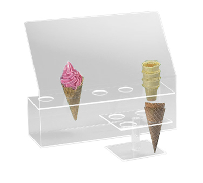 "Cal-Mil 297 5-Hole Cone Holder w/ Guard, 2"" Diameter Hole Size, Clear"