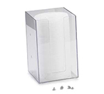 "Cal-Mil 787-12 4"" Square Straw Holder, Clear"