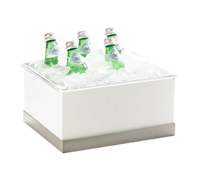 "Cal-Mil 3005-10-55 Luxe Ice Housing - 10x12-1/4x6-1/2"", White, Stainless Steel"