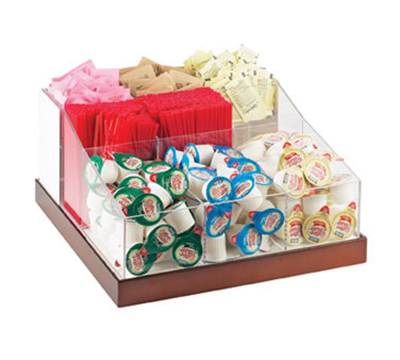 Cal-mil 3009-51 Luxe Multi-Bin Condiment Organizer - Clear, Copper