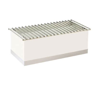"""Cal-Mil 3012-55 Luxe Chafer Alternative - 22x12x8-1/2"""", White, Stainless Steel"""