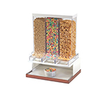 Cal-Mil 3019-51 3-Compartment Luxe Cereal Dispenser - White, Copper
