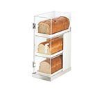 Cal-Mil 3021-55 3-Tier Luxe Bread Display Case - Clear, Stainless Steel