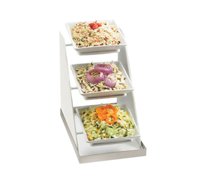 Cal-Mil 3022-55 3-Tier Square Luxe Bowl Display - Melamine, White