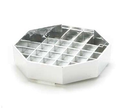 Cal-Mil 308-4-49 4-in Octagon Standard Drip Tray, Chrome