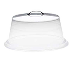 Cal-Mil P313 12-in Round Clear Acrylic Pie Cover w/ Flat Top, 4-in High