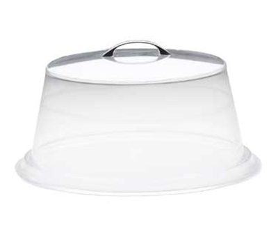 Cal-Mil 313-18 18-in Round Continental Cover w/ Flat Top, Clear Acrylic