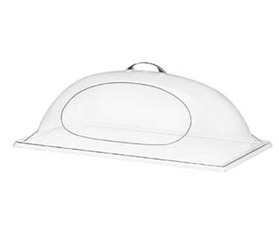 Cal-Mil 324-12 Dome Chafer & Display Cover w/ 1-Side Cut Out, 12 x 20 x 7.5-in H