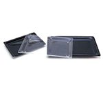 "Cal-Mil 335-10-12 Shallow Display Tray, 10 x 14 x 1"" Deep, Clear Acrylic"