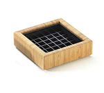 Cal-Mil 330-6-60 6-in Square Standard Spigot Drip Tray, Bamboo