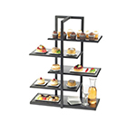 Cal-Mil 3303-96 5-Tier One by One Display Server Shelf - Midnight Bamboo