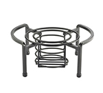 "Cal-Mil 3305-13 Chafer Dish Stand - 11x5"", Fuel Cell Rail, Black"