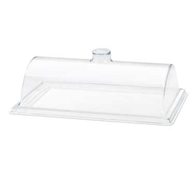 "Cal-Mil 332-12 Euro Dome Style Display Cover, 12 x 18 x 6"" High, Clear Acrylic"