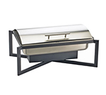 Cal-mil 3321-13 Rectangular One by One Chafer - Stainless Steel, Black
