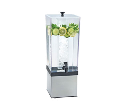 Cal-mil 3324-3-55 3-gal Econo Beverage Dispenser - Lid, Spigot, Stainless Steel