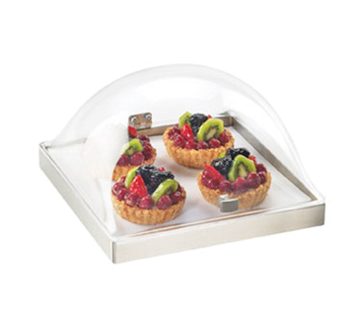 Cal-Mil 3329-12-55 Square Chill Sampler Display Only - Acrylic, Stainless Steel