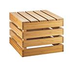 "Cal-Mil 3332-10-60 Square Crate Riser - 12x12x10"", Bamboo"