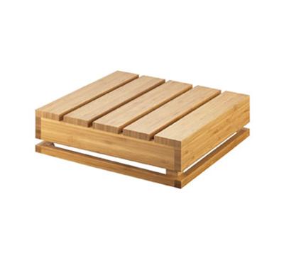 "Cal-Mil 3332-4-60 Square Crate Riser - 12x12x4"", Bamboo"