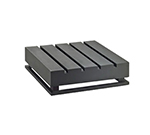 """Cal-Mil 3332-4-96 Square Crate Riser - 12x12x4"""", Midnight Bamboo"""