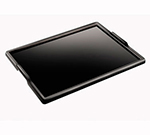 Cal-Mil 354-1-13 Black Stackable Room Service Tray, 18 x 24""