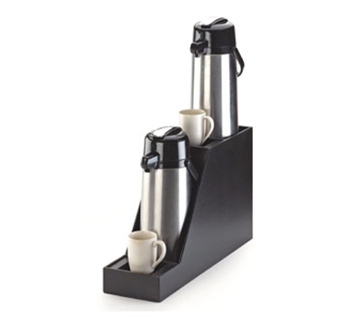 "Cal-Mil 360-2-96 Airpot Display - 7-1/2x23-1/2x15-1/4"", Dual for 2.5 Liter Inline, Midnight"