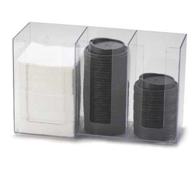 "Cal-Mil 375-13 Lid Organizer w/ (2) 4"" & (1) 5"" Sections, Black"