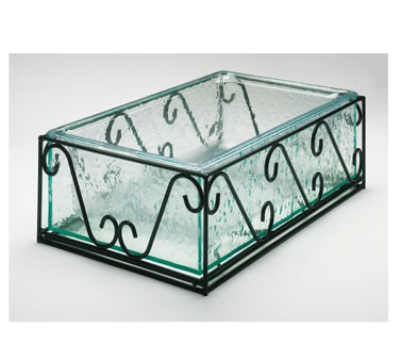 """Cal-Mil 413-12-13 Removable Wire & Faux Glass Housing w/ Pan, 12 x 20"""""""
