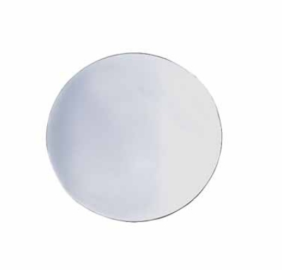 Cal-Mil 414-12-43 12-in Round Faux Glass Mirror Tray w/ Scratch Resistant Mirror