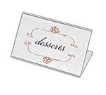 "Cal-Mil 561 Tabletop Menu Card Holder - 3.5"" x 5.5, Acrylic"