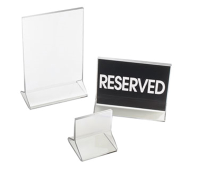 "Cal-Mil 521 Tabletop Menu Card Holder - 4.25"" x 5.5"", Acrylic"