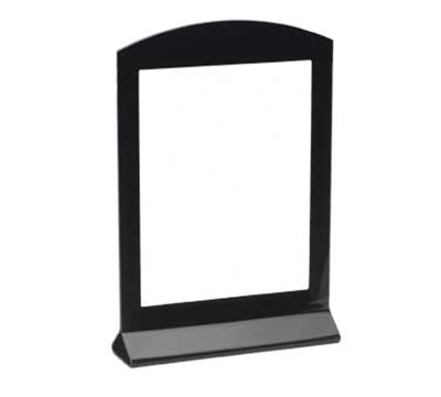 "Cal-Mil 654 Tabletop Menu Card Holder - 4"" x 6"", Acrylic, Black"