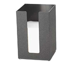 "Cal-Mil 635-13 5.5"" Square Napkin Holder for 5"" Napkins, Black Acrylic"