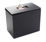 Cal-Mil 641 Countertop Waste Container w/ Lid & Pan Liner, 6.5 x 6 x 8-in High