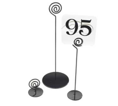 Cal-mil 661-2-13 2-in High Number Stand, Black Powder Coated Wire