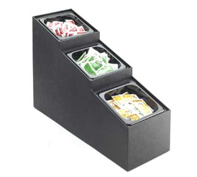 """Cal-Mil 709-3 3-Tier In Line Condiment Organizer w/ Pans, 21 x 7.5 x 16"""" High"""