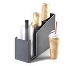 Cal-Mil 724 Cup & Lid Organizer w/ Stem For Lids That Have Straw Opening, ABS