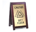 "Cal-Mil 851-WET Wet Floor Sign w/ Wood Frame, 12 x 4 x 20"" High"