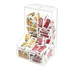 "Cal-Mil 925 Clear Acrylic Packet Dispenser w/ 2-Bins, 8.5 x 12"" High"