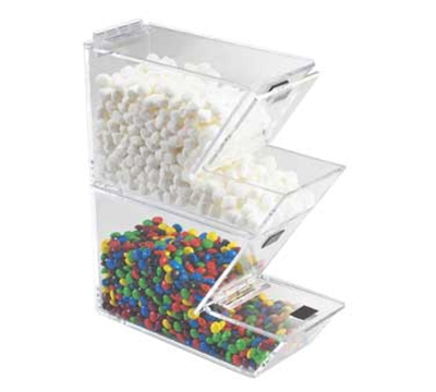 "Cal-Mil 927 Stackable Yogurt Topping Dispenser w/ Magnetic Lid, 4 x 11 x 7"" H"