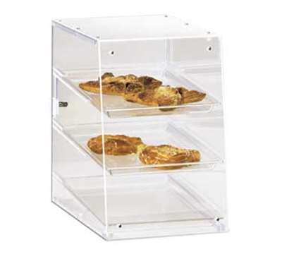 Cal-Mil 941 Countertop Display Case w/ Rear Door & (3) 13 x 18-in Trays, Clear