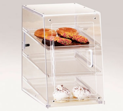 Cal-mil 942-S Countertop Display Case w/ Self Serve Door & (3) 13 x 18-in Trays