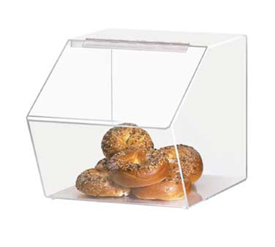 "Cal-Mil 943 Clear Acrylic Food Bin w/ Slant Front, 12.5 x 16 x 12.5"" High"