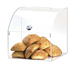 "Cal-Mil 945 Clear Acrylic Food Bin w/ Curved Top, 12.5 x 12.5 x 12.5"" High"