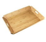 Cal-Mil 958-1-60 Room Service Tray w/ Bamboo Finish, 22.5 x 17-in