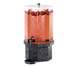Cal-Mil 972-3-17 3-Gallon Octagon Beverage Dispenser w/ Ice Chamber & Charcoal Base