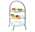 "Cal-Mil 977-10-13 3-Tier Display Or Server w/ Arched Black Iron Frame, 20"" High"